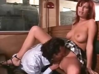 Sultry Sandy-haired Fucked In The Train!