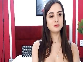 Dark Haired Superslut Loves To Be A Cowgirl On Webcam And Likes Her Fuck Stick