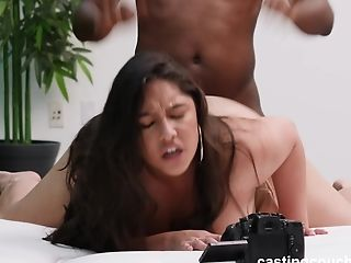 Chubby Allyana Gets A Dicking From A Big Black Cock On The Casting Couch