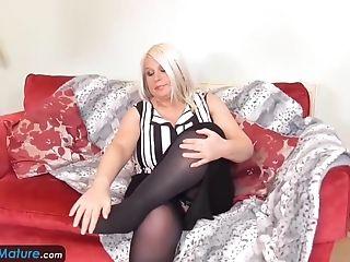 Europemature - Super-cute Matures Sammy Jiggling Her Big Knockers