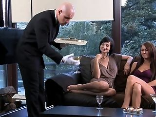 Two Dudes Versus One Woo Thirsty Stunner Aleska Diamond