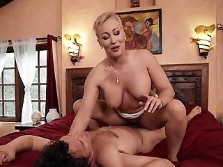 Matures Blonde Grounds Powerful Inches Down Her Cramped Vagina
