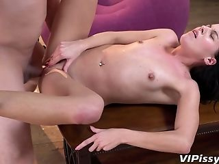 Adorable Honey With Sexy Figure Doroty Is Pissing During Fuck-a-thon