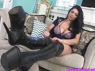 Hot Latina Mistress In Sexy Boots - Female Domination Solo