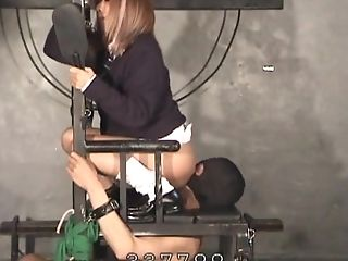 A Servant Tied Up By A Stool And Compellingly To Cuni