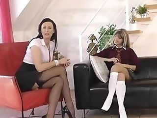 Spanked Les Mummy Frigged By Petite Nubile
