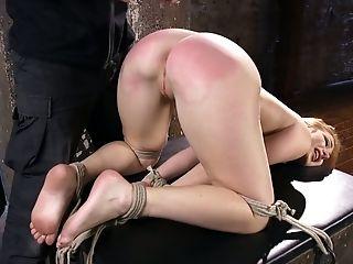 Tied Up Suspended Harlot Sophia Locke Gets Disciplined In The Dark Room