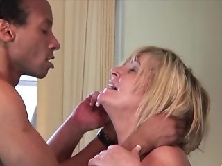 Horny Cougar Spoke A Black Boy Into Drilling Her Moist Snatch