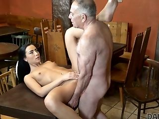 Crazy Pub Visitor Anna Gets Lured By Old Man And Fucked Hard