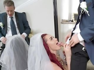 Man Catches Bride Alone And Shoves Pecker In Lecher's Fuck-holes