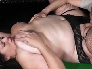 Bbw In Fishnets Her Her Fat Cunt Gobbled