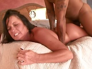 Ms Debbie Plays A Pissing Game With A Youthful Man And Then She Fucks Him