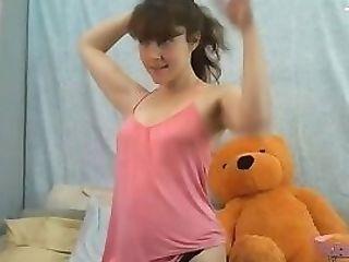Lovely Youthfull Homemade Fledgling Teenager Naked On Webcam