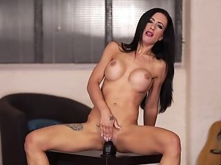 Scrawny Black-haired Skyler Mckay Is Railing Her Faux-cock Like A Tremendous Mega-slut