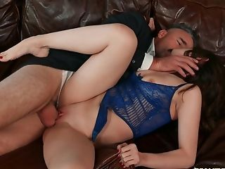 Teenage Explosions Her Pink Cherry With Teacher's Raw Dick