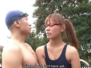 Adorable Asian Honey In Glasses Rinoa Yuuki Gets Her Cooch Toyed