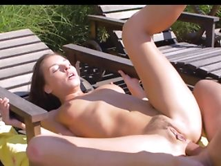 Beachside Butt Fucking Of A Beautiful Youthful Dark-haired