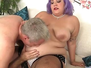 Sultry Geezer Takes His Time Liking Bbw Jade Rose And Her Yummy Bod