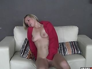 Horny Bianca Undoes Her Crimson Tee-shirt To Reveal Her Tits Before Frigging Herself.