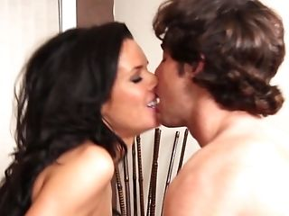 Dark Haired Veronica Avluv With Hefty Melons Is On The Edge Of Nirvana With Seth Gamble's Erect Instrument In Her Mouth